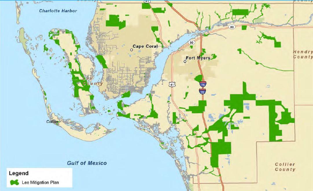 Lee County Mitigation Plan Map Image